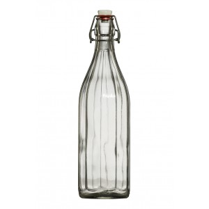 Csatos üveg palack 1l