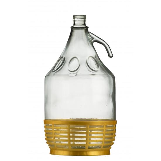 Demigeon 5 Literes csavarzáras üvegpalack + Műanyag alj