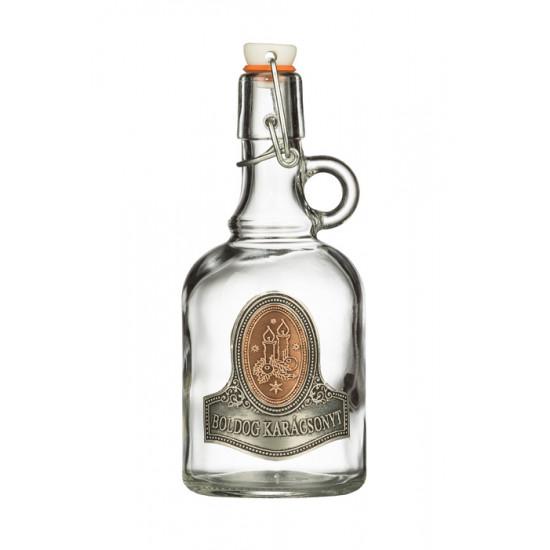 Ón címkés palack gallone gyertya 0,5 Literes üvegpalack