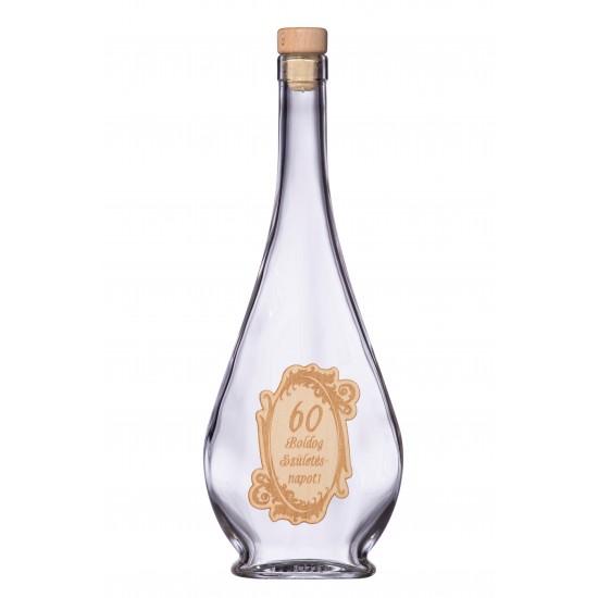 Fa címkés FC1 Liabel 60 0,5 Literes üvegpalack