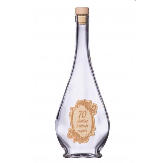 Fa címkés FC1 Liabel 70 0,5 Literes üvegpalack