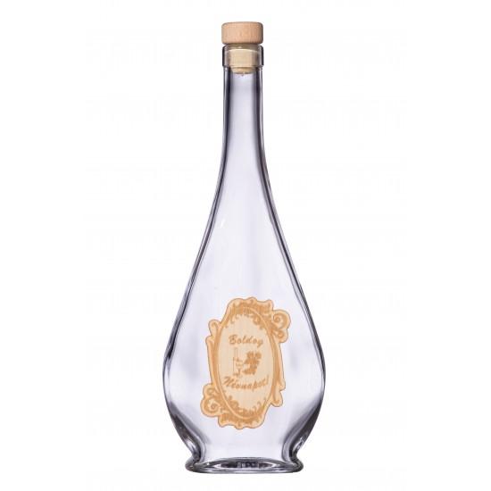 Fa címkés FC1 Liabel Boldog Névnapot 0,5 Literes üvegpalack