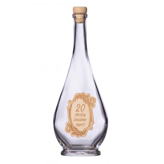 Fa címkés FC2 Liabel 20  0,2 Literes üvegpalack