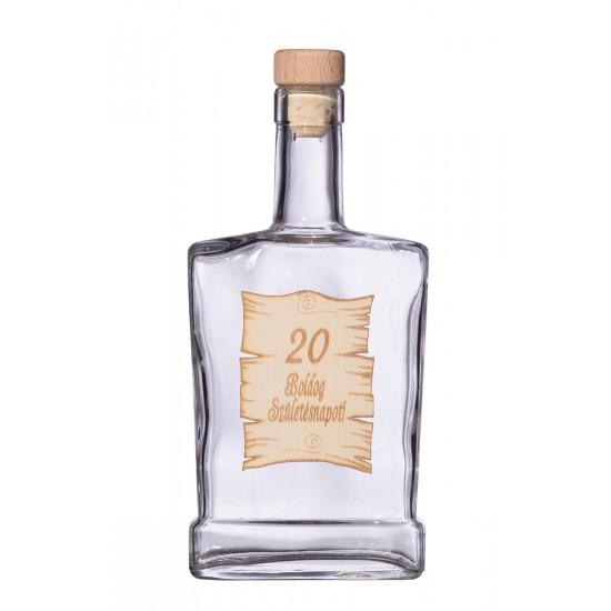 Fa címkés FC4 Piatta 20  0,5 Literes üvegpalack