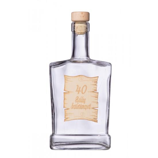 Fa címkés FC4 Piatta 40  0,5 Literes üvegpalack
