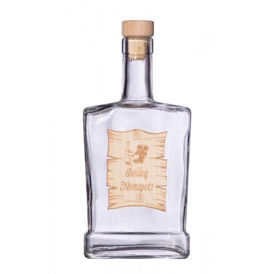 Fa címkés FC4 Piatta Boldog Névnapot 0,5 Literes üvegpalack