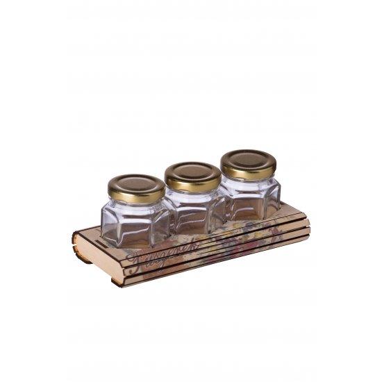 Fa fűszertartó Hexa 3 tavaszi ajándéktárgy